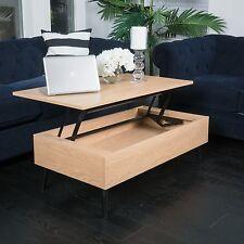 Living Room Furniture Mid-Century Design Wood Lift Top Storage Coffee Table