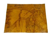NEW YORK 1912 ANTIQUE PRINT ON LEATHER PAINTING DRAWING
