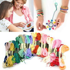 50 Mixed Colour Egyptian Cross Stitch Embroidery Sewing Thread Cotton Skeins Set