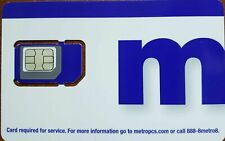 New Metro by T-Mobile MetroPCS Sim Cards Triple Cut-Nano-Micro & Regular 4G LTE
