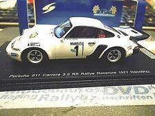 PORSCHE 911 Carrera 3.0 Rallye DRM Hunsrück 1977 #1 Röhrl 1/300 RAR Spark 1:43