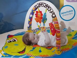 0 mths+ BABY PLAY MAT, some make noise, dino gym entertainment mat