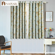 NAPEARL 1 Panel Blackout Floral Curtain Bedroom Shades Short Window Decor Drapes