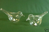 BIRD CRUET SET CLEAR GLASS SALT AND PEPPER SHAKERS BUY ONE OR TWO SETS - BOXED