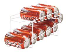 Beverage Soda Coke Can Dispenser Storage Rack Kitchen Refrigerator Organizer Pop