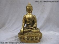 Tibet Buddhism classical Brass Dragon frock Sakyamuni Buddha Hold bowl statuary