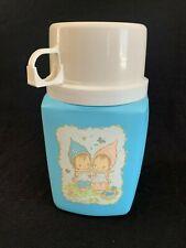 Vintage Betsey Clark Blue Thermos 2 Cute Girls Butterflies Hallmark Children