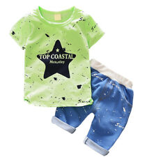 Infant Baby Boy Outfit Kids Boys Clothes Clothing Outfits Sets T-shirt + Pants