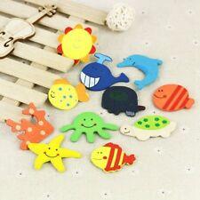 12X Baby Cute Fridge Magnet Wooden Cartoon Animal Child Educational Kids Toys #C
