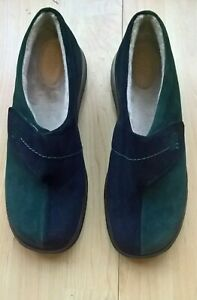 Ladies Hotter Wrap suede slippers size 6,  8.  Standard fitting  NEW  Navy mix