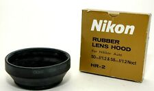 NIKON HR-2 RUBBER LENS HOOD for 50mm f1.2 & 58mm f1.2! NEW OLD STOCK CONDITION!