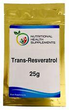 Trans-Resveratrol 98% 25g Bulk Powder
