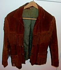 Vintage Joo-Kay Leather Jacket with Fringes Large Fashion Collectible decor