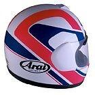 Arai Quantum Chandler #5 Pink White Blue motorcycle helmet Md Lg New in box