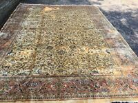 10x13 Antique Fine Hand-Knotted Wool Rug Carpet