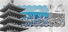 Silber-Banknote * 1 Dollar Cook-Inseln * Skyline-Dollar Tokyo * NEU *