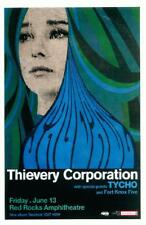 THIEVERY CORPORATION TYCHO RED ROCKS 2014 CONCERT POSTER COLORADO