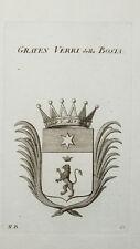 1819 Wappen Verri della Bosia Kupferstich Tyroff