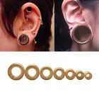 Hand Carved Organic Bamboo Wood Ear Tunnels Gauges-Ear Expander Piercing FT
