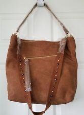 "NWT Women's ""Steve Madden"" Catie Tan Faux Leather Large Hobo Style Handbag"