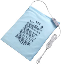 """Electric Heating Pad Fast Heat for Pain with On/Off Switch 12''x15"""" Sky Blue"""