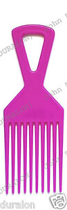 Afro Hair Comb Cerise Wide Long Tooth Comb Professional Flexible Duralon UK