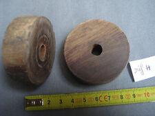 roulette ancienne en bois  de 53,5 mm de diamètre (réf H )
