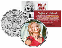 "Marilyn Monroe ""Red Dress"" JFK Kennedy Half Dollar U.S. Coin *Licensed*"