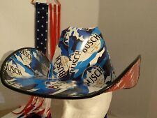 "🍺2021 NEW! Patriotic ""BUSCH"" Cowboy Cowgirl HAT Beer Box OSFM  Anheuser Busch"