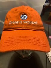 "Volkswagen Hat Drivers Wanted Burnt Orange Flexible Fit Cap L-XL(7"") Excellent"