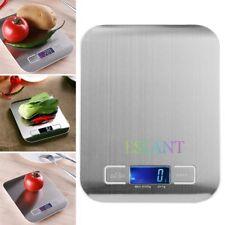 5kg Acero Inoxidable Digital LCD Electrónico Cocina cocinar alimentos Balanzas