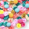 Dot Ribbon Flower ribbon flower W/pearl wedding/sewing/appliques Lots