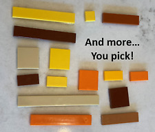 Lego Tiles Brown Tan Orange Yellow YOU CHOOSE SIZE lot flats smooth Floors