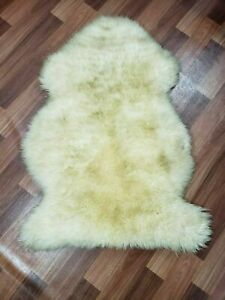 Genuine Sheepskin Rug Sheep Skin Fur - Australian Sheep Rug 2 X 3 ft