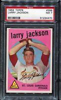 1959 Topps Baseball #399 LARRY JACKSON St Louis Cardinals PSA 7 NM