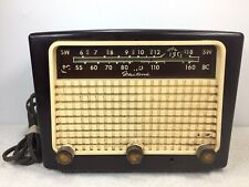 Antique Fleetwood Bake-o-lite Radio Tube For Parts not working E-1173 VT Canada