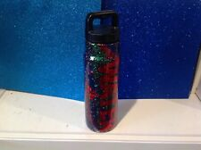 Dble insulated Stainless glittered tumbler Water Bottle 24 oz W/LID WATER