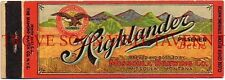 Scarce Montana 1930s Highlander Beer Matchcover Tavern Trove