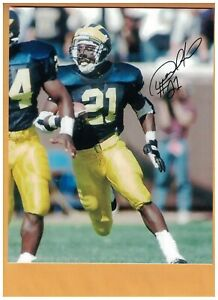 Desmond Howard AUTOGRAPHED MICHIGAN WOLVERINES CFHOF 2011 PHOTO SIGNED