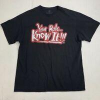 The Rock WWE Wrestling Shirt Adult XL Dwayne Johnson Short Sleeve Casual Tee