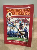 1989 Washington Redskins Football Media / Press Guide Art Monk Autograph