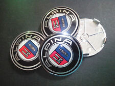 NEW 68mm ALPINA BMW WHEEL CAPS BADGES FOR BMW 1 3 5 7 Z3 Z4 X3 SERIES