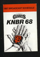 San Francisco Giants--1987 Pocket Schedule--KNBR/Bud Light