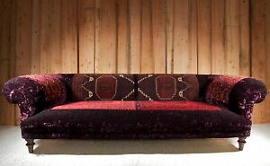 Handmade Bedouin Rug Chesterfield Sofa