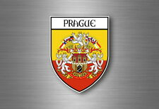 Sticker decal souvenir car coat of arms shield city flag prague czech praha