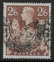 SG476  2s6d.Brown. Fine Used With Full Perfs.  Ref:0621