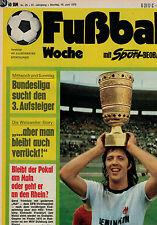 Fußball Woche 25/1975,EINTRACHT FRANKFURT/EINTRACHT BRAUNSCHWEIG POSTER,Weisweil
