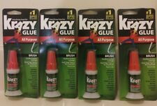 Krazy Glue All Purpose With Brush 4 Pk