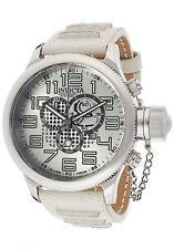 New Invicta Men's Russian Diver Chronograph White Genuine Leather