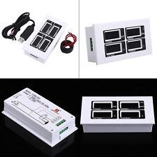 100A AC 80~260V Digital Power Meter Voltage KWh Watt Voltmeter Ammeter CT +USB